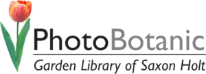 Photobotanic garden library of saxon holt